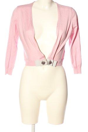 Schumacher Cardigan pink-weiß Casual-Look