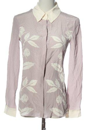 Schumacher Camicia blusa rosa-bianco sporco stampa integrale elegante