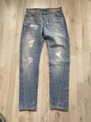 Schumacher Jeans boyfriend bleu azur