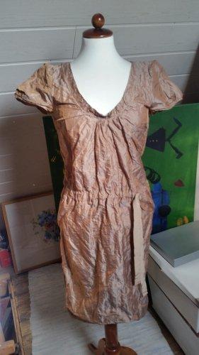Schumacher Kleid mit Metallfaser Nude Gr. S NEU