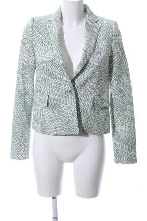 Schumacher Kurz-Blazer grün-weiß abstraktes Muster Business-Look