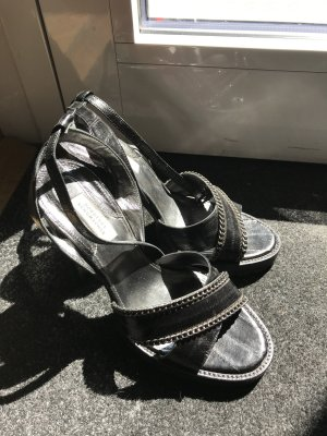 Dorothee Schumacher Strapped High-Heeled Sandals black leather