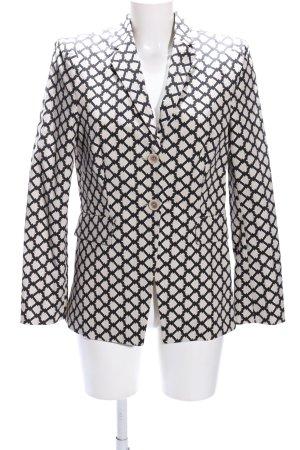 Schumacher Long Blazer black-natural white check pattern casual look