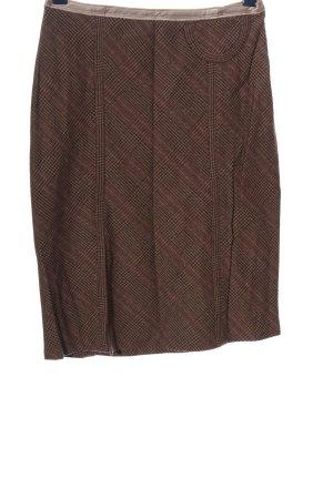 Schumacher Jupe crayon brun-rose chair motif à carreaux style d'affaires