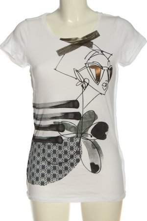 Schumacher Camiseta estampada blanco-negro estampado temático look casual