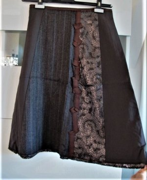 SCHUMACHER Rock Skirt Gr. XS / Gr. 34 TOP Zustand Materialmix Hoher Neupreis!