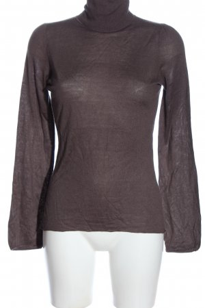 Schumacher Turtleneck Shirt brown casual look