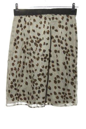 Schumacher Silk Skirt light grey-brown abstract pattern casual look