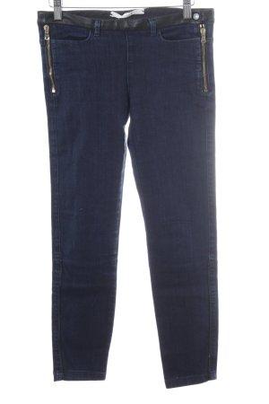Schumacher Jeans skinny blu scuro-nero puntinato elementi in schiuma