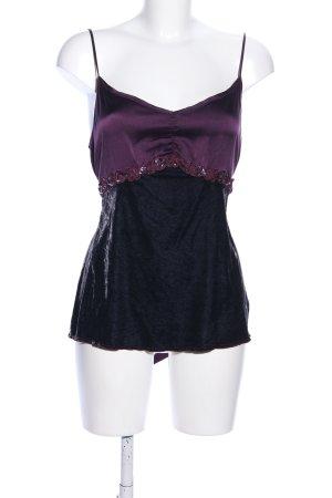 Schumacher Haut à fines bretelles violet-noir élégant