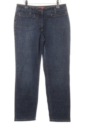 Schumacher Jeans a gamba dritta blu acciaio puntinato stile casual