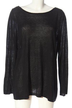 Schumacher T-shirts en mailles tricotées noir style décontracté