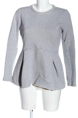 Schumacher Sweatshirt gris clair moucheté style décontracté