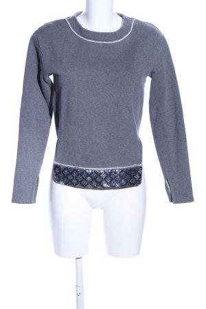 Schumacher Sweatshirt hellgrau grafisches Muster Casual-Look