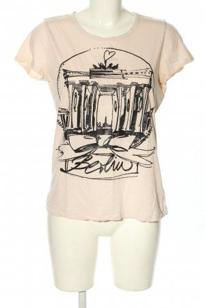 Schumacher T-Shirt creme-schwarz Motivdruck Casual-Look