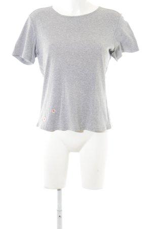 Schumacher T-Shirt grau-hellgrau meliert Casual-Look