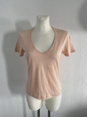 Schumacher T-shirt col en V rose chair