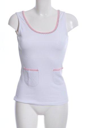 Schumacher Tanktop weiß-pink Casual-Look