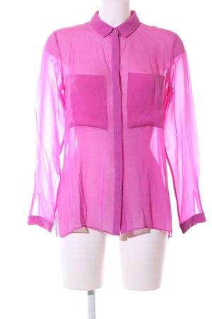 Schumacher Transparenz-Bluse pink Elegant