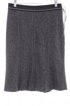 Schumacher Tweed Skirt black-grey elegant