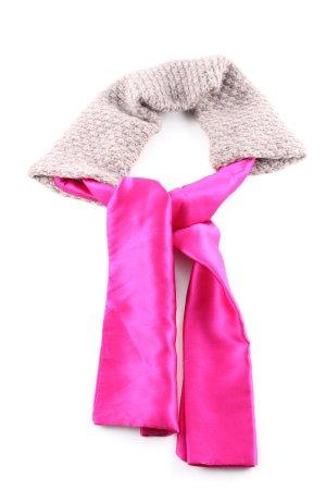 Schumacher Sciarpa di lana rosa-bianco sporco stile stravagante