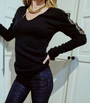 Schunk&Rosenfeld Kaschmir Pullover sweater studded nieten rockig
