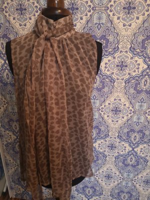 Tie-neck Blouse light brown-cream