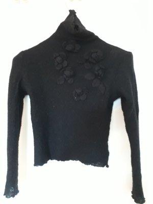 Georges Rech Pull en laine noir laine vierge