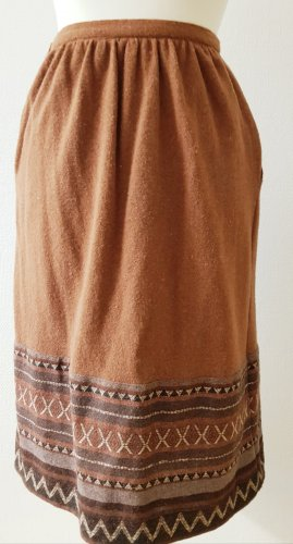 Jupe taille haute bronze