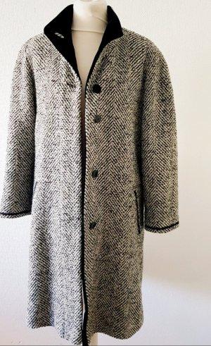 Winterjas zwart-wolwit