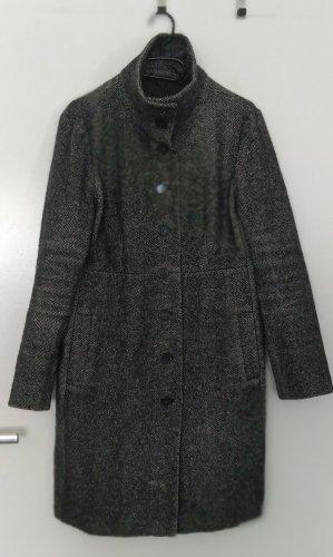 Max Mara Wełniany płaszcz ciemnoszary-antracyt
