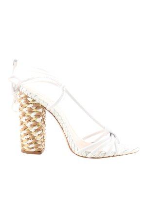 Schutz Riemchen-Sandaletten weiß Elegant