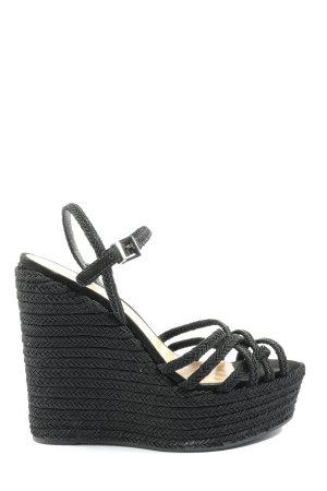 Schutz Riemchen-Sandaletten schwarz extravaganter Stil