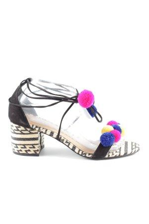 Schutz Riemchen-Sandaletten grafisches Muster Party-Look
