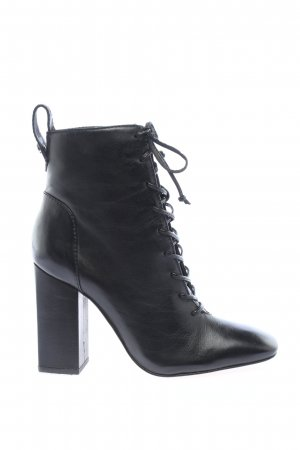 """Schutz Lace-up Booties """"High Boots"""" black"""