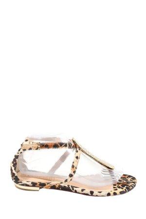 Schutz Sandalo toe-post Stampa leopardata stile casual