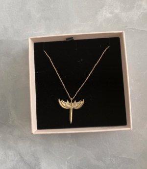 Schutzengel Halskette  Zirkonia/Gold