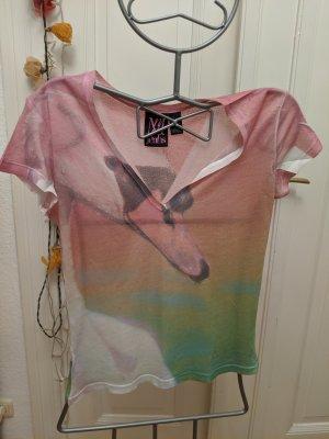 Schwanen Shirt mit v Ausschnitt