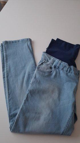 Mama licious Pantalone cinque tasche blu fiordaliso