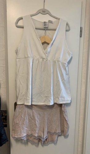 H&M Piżama biały-różany