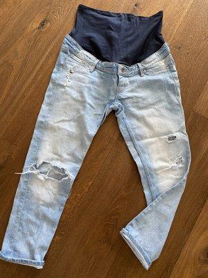 H&M Mama Jeans boyfriend bleu azur