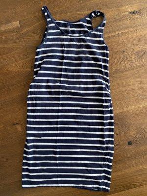 H&M Mama Robe en jersey blanc-bleu foncé