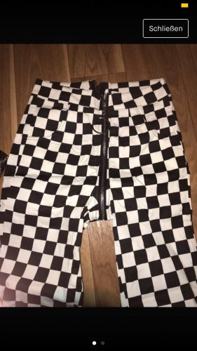 Pantalone Capri nero-bianco