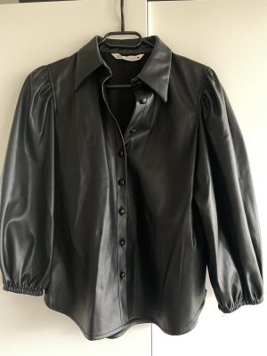 Zara Leather Blouse black