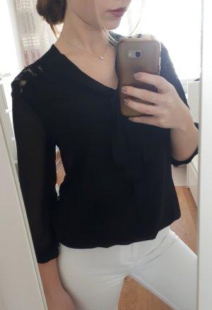 Jedwabna bluzka czarny
