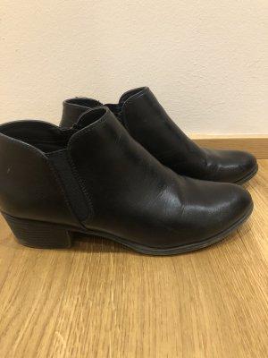 Schwarz Ankleboots
