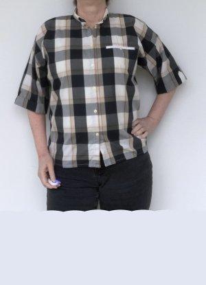 schwarz-beige karierte Bluse von Sixth Sense, C&A, Gr. 42