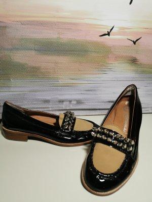 Schwarz beige Nieten Slipper - Jeffrey Campbell