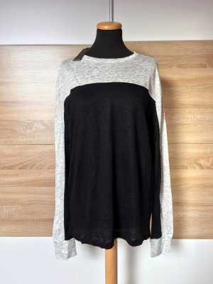 Schwarz beige Pullover, Shirt Kleid von Moss Copenhagen, Gr. L (NEU)