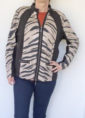 Monari Safari Jacket black-oatmeal cotton